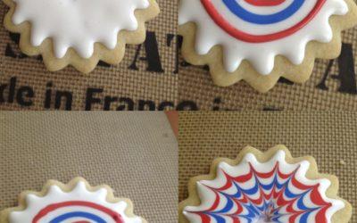 Easy fireworks sugar cookies
