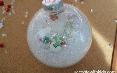 DIY I Spy Christmas ornaments