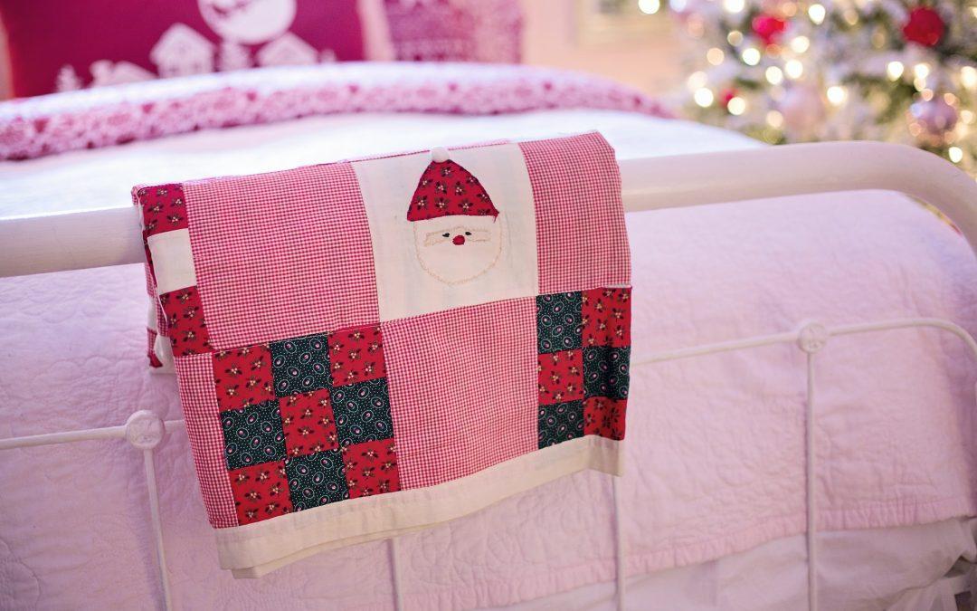 Line beds with fleece blankets