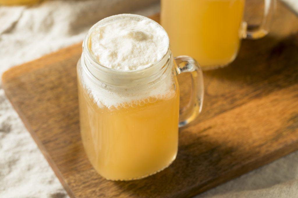 Homemade Butterscotch Butter Beer in a Mug