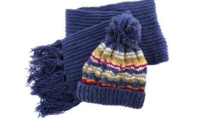 Scarves and hats for deployed troops