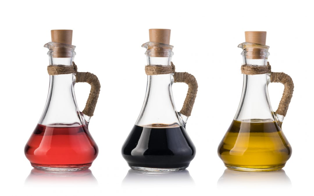 Infused vinegars for gifts