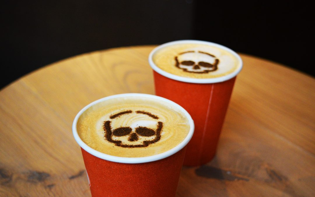 Spooky coffee art