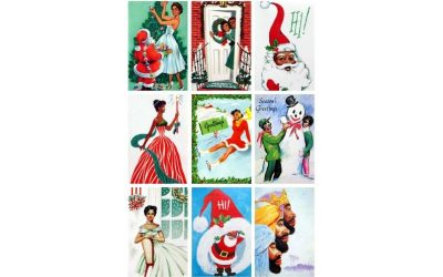 Vintage Christmas Cards featuring African Americans