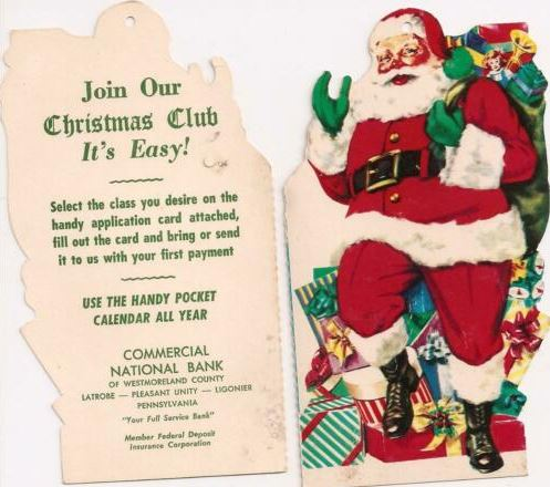 vintage Christmas Club bank flyer