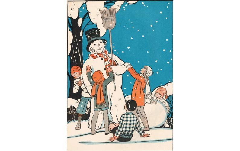 1930 snowman by illustrator Billie Parks