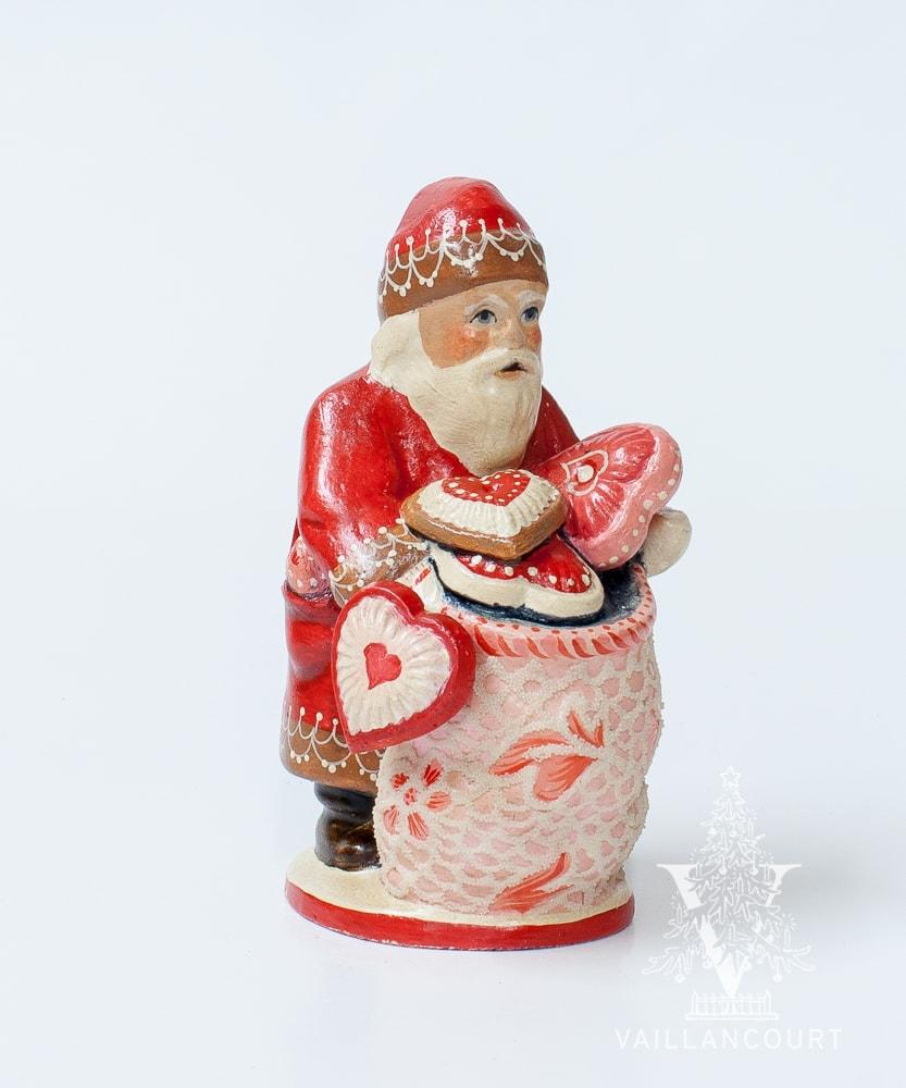 Vaillancourt Santa with sack of valentines