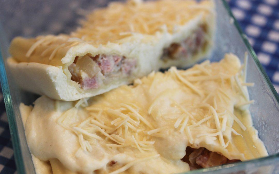 Ham and cheese manicotti (freezer meal)