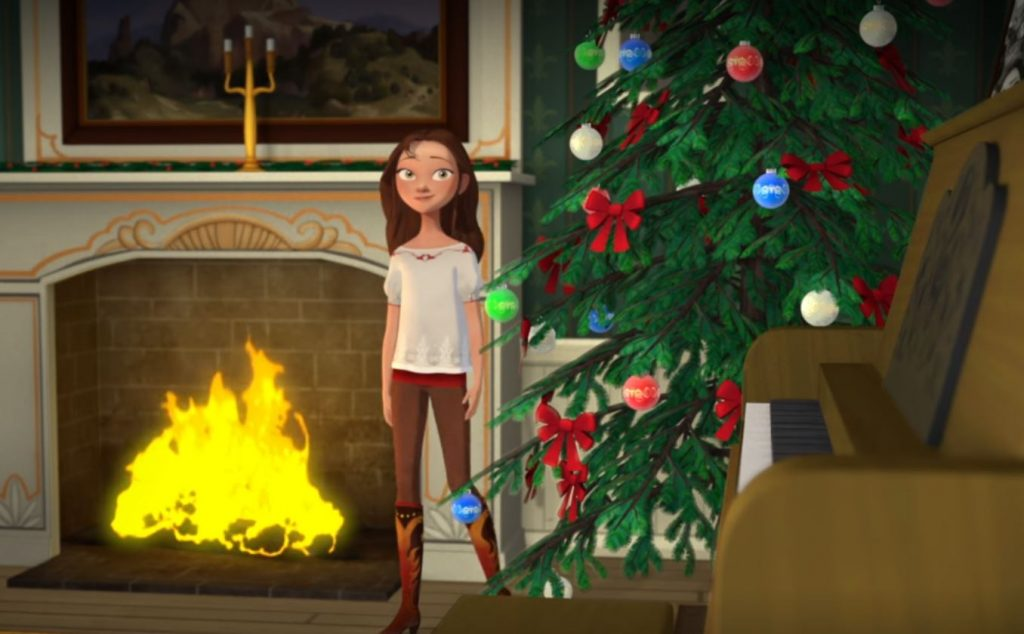 Still from Spirit: Riding Free Season 2, episode 5, Lucky and the Christmas Spirit