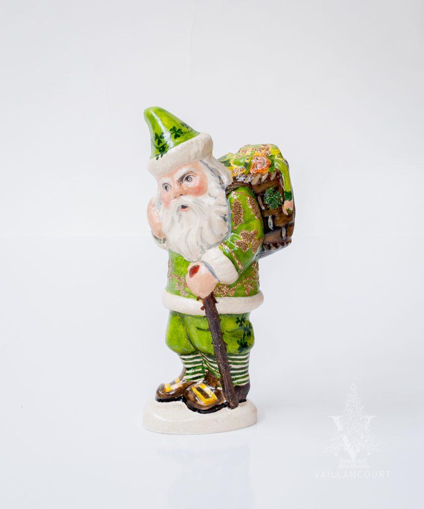St Patricks Day Irish Vaillancourt Santa figurine
