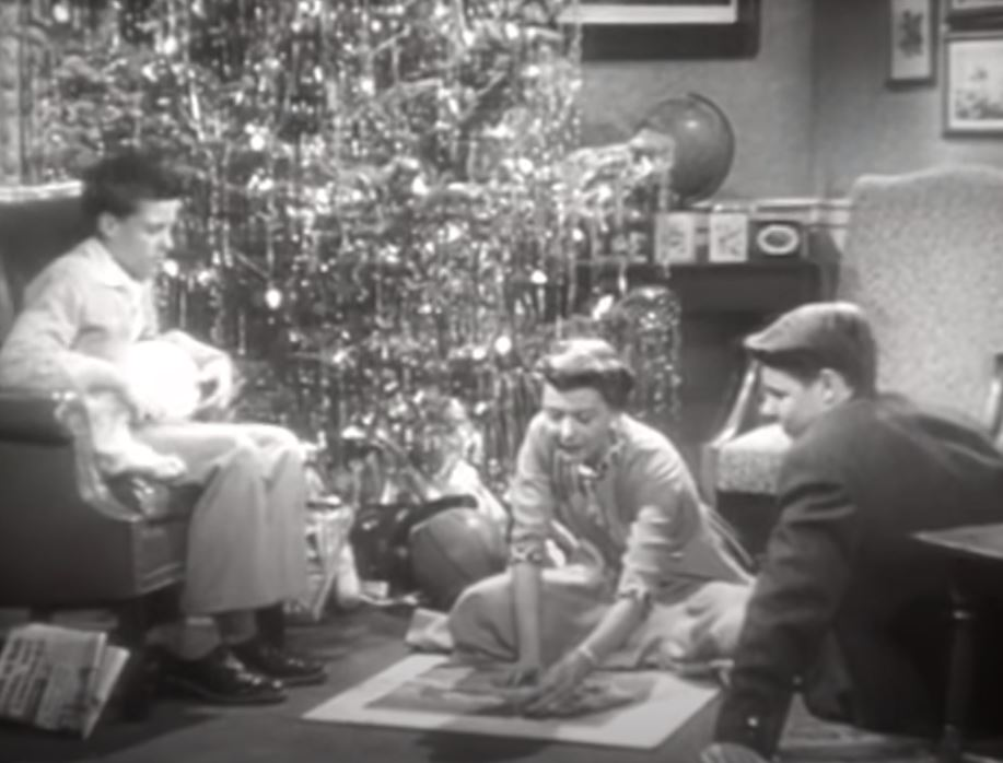 Ozzie and Harriet Christmas scene