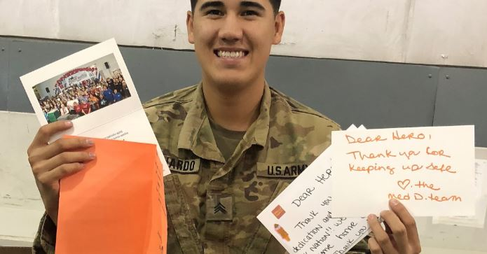 Write letters to heroes