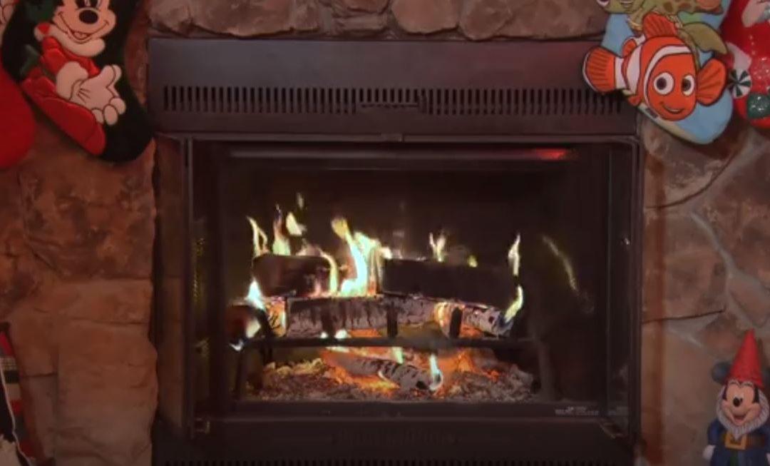 Disney Yule Log Video