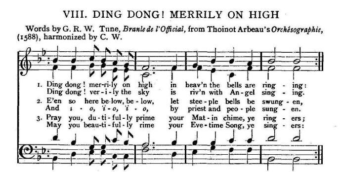 History of a song – Ding Dong Merrily On High