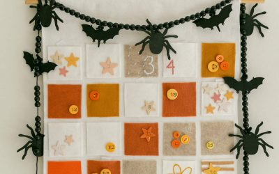 Halloween countdown calendar by A Beautiful Mess